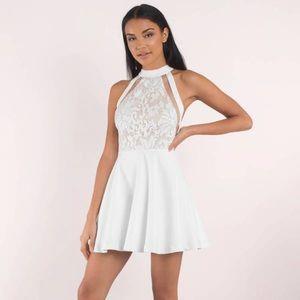 NWT Tobi Sophia Lace White Skater Dress | S